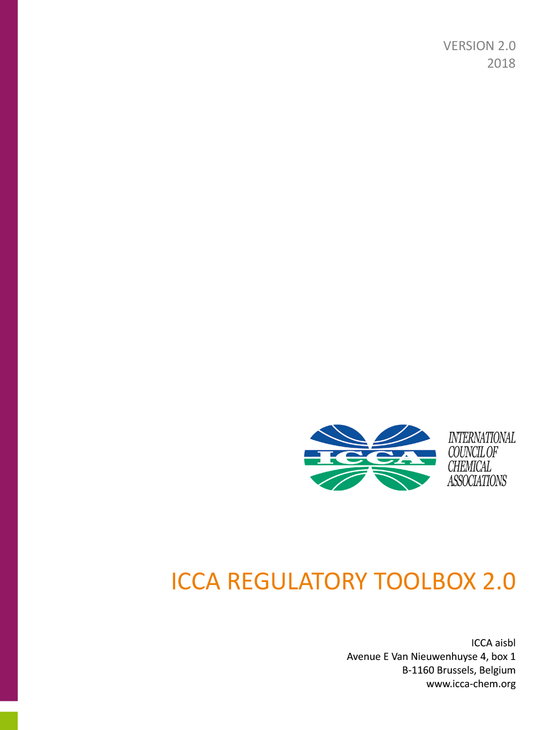 ICCA Regulatory Toolbox Version 2.0