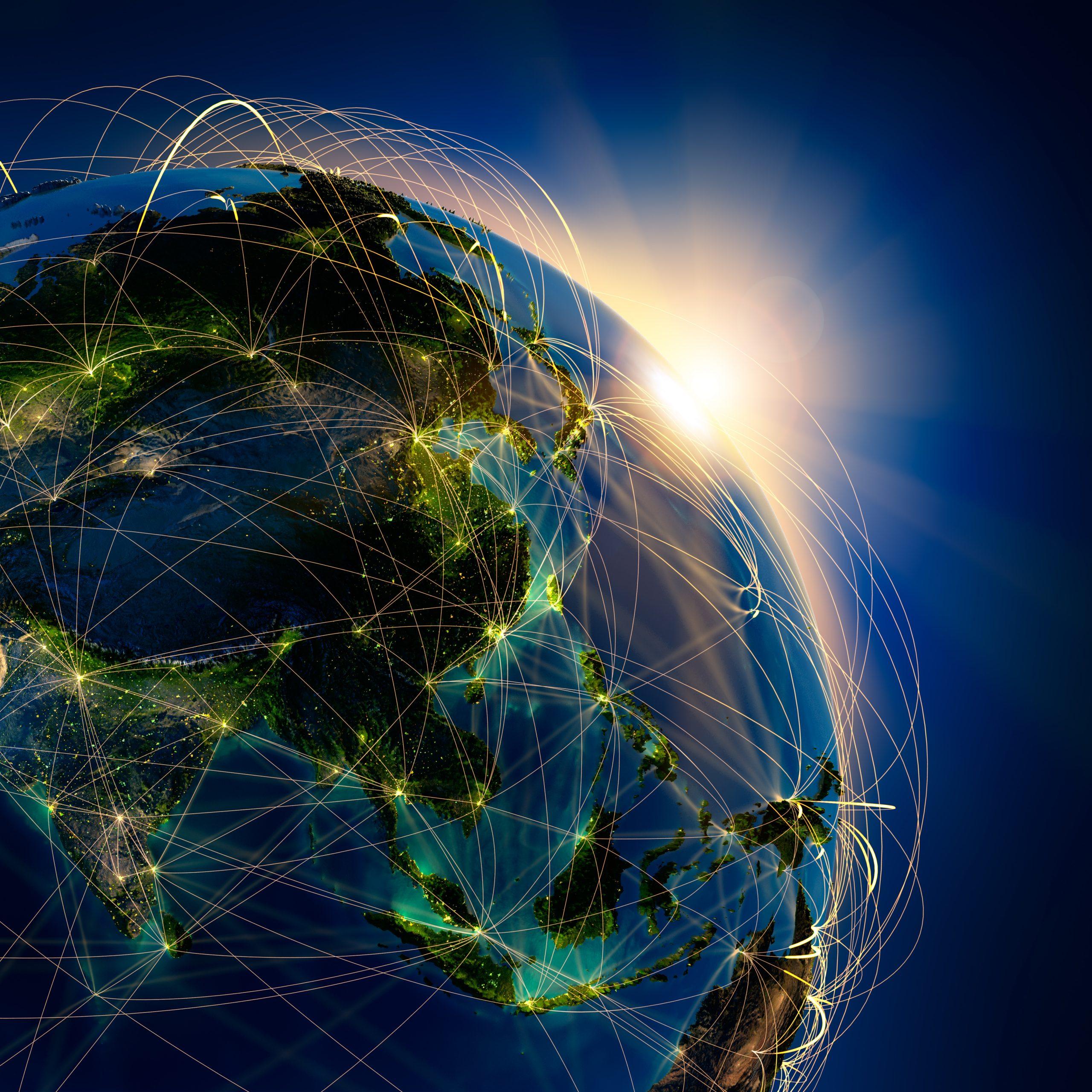 Globe satellite image